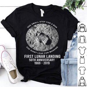 Apollo 11 50th Anniversary Moon Landing Boot Print shirt