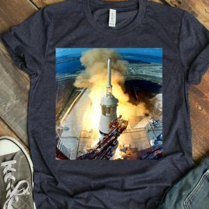 Apollo 11 Launch Moon Landing Saturn 5 Rocket Space shirt