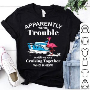 Apparently We're Trouble Flamingo Cruising Together shirt