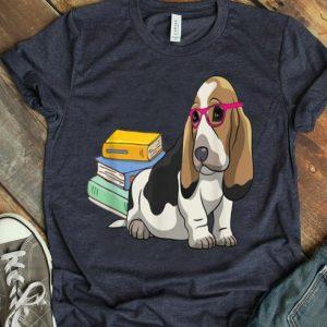 Basset Hound Geek Dogeek Dogs Book Lovers Gift shirt