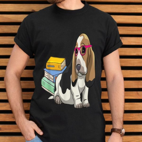 Basset Hound Geek Dogeek Dogs Book Lovers Gift shirt