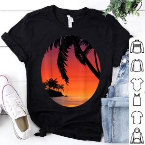 Beach Sunset Retro Dusk Summer Tropical Beach Lover Gift shirt