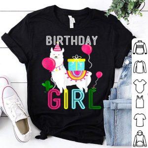 Birthday Girl Llama Cool Cute Alpaca Llama Cactus shirt