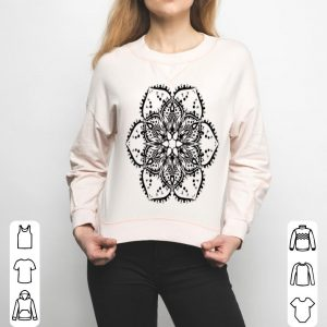 Black Lotus Flower Mandala Peace Hippie Tattoo shirt