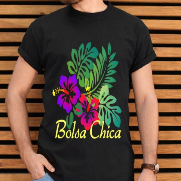 Bolsa Chica Beach Tropical Flower Surf Vacay Premium shirt