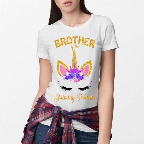 Brother Of The Birthday Princess Unicorn Girl Outfit shirt