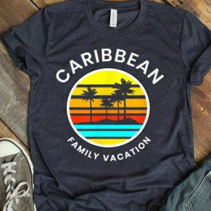 Caribbean Family Vacation Sunset Palm Tree shirt