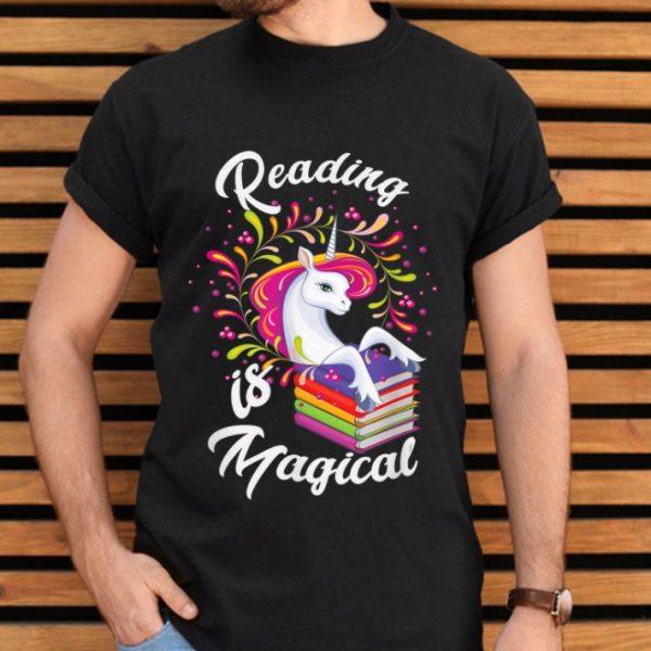 Cute Unicorn Book Lover Reading Is Magical shirt