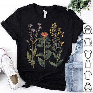 Elegant Antique Botanical Of Wildflowers shirt