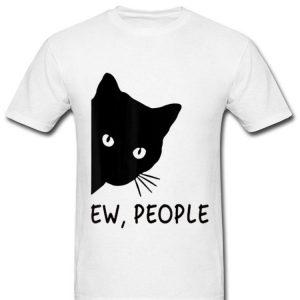 Ew People Black Cat Face Watchings shirt