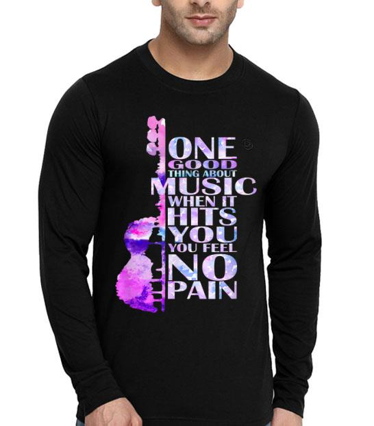 Good Thing About Music Lover It Hits You Feel No Pain shirt