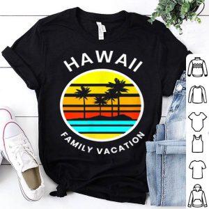 Hawaii Family Vacation Sunset Palm Tree shirt
