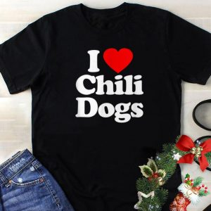 I Love Chili Dogs Heart sweater