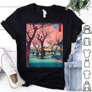 Japanese Cherry Blossom Japanese Woodblock Art Print shirt