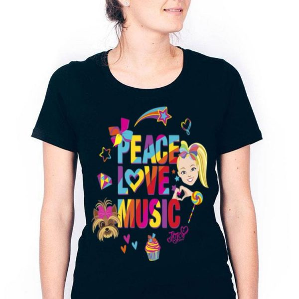 Jojo Siwa Peace Love Music Lover Rainbow Sticker Premium shirt