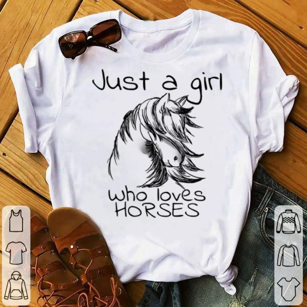 Just A Girl Who Loves Horses Vintage Girl Horse Lovers shirt