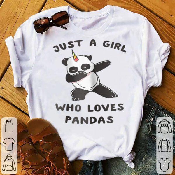 Just A Girl Who Loves Pandas Dabbing Pandacorn Lover shirt