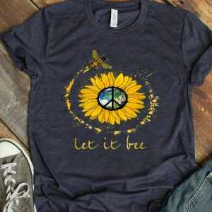 Let It Bee Flower Earth Peace Sign Hippie shirt