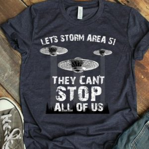 Let's Storm Area 51 Can't Stop Us UFO Running Team shirt