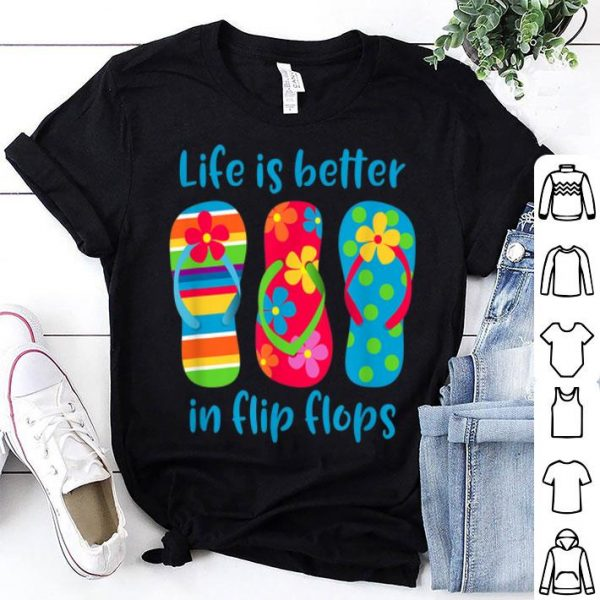 Life Is Better In Flip Flops Hawaii Vacation shirt