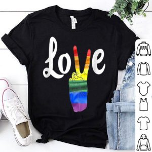 Love Peace Sign Rainbow Gay Pridet Love Is Love shirt