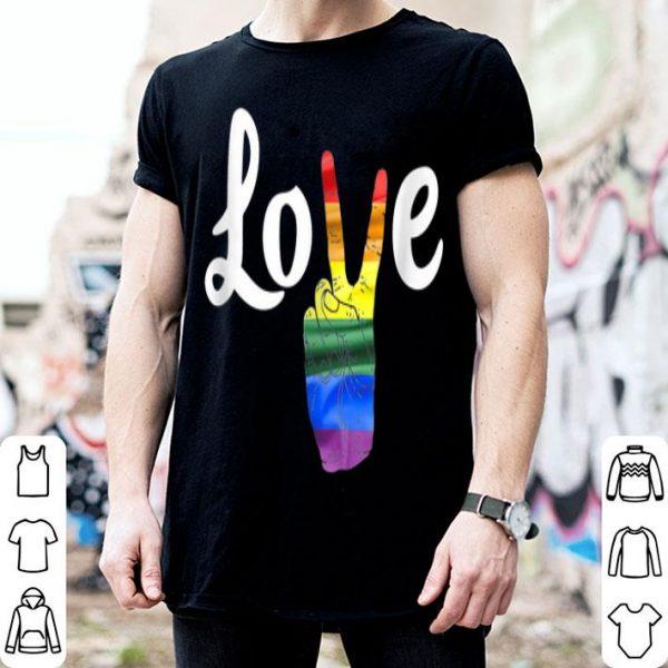 Love Peace Sign Rainbow Gay Pridet Love Is Love shirt