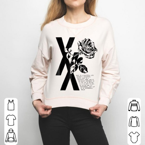 Mgk T Xx Flower Black Rose For Kids shirt