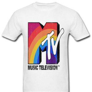Mtv Rainbow Logo Music Lover Television Graphic shirt
