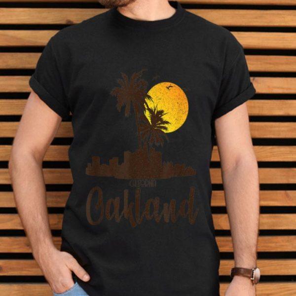 Oakland California Sunset Beach Palm Tree Summer shirt