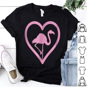Pink Flamingo Heart - Wading Bird Species Lover shirt
