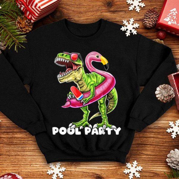 Pool Party T Rex Dinosaur Flamingo Float Summer shirt