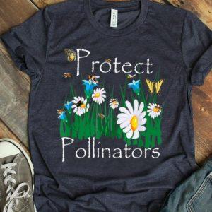 Protect Pollinators Bees Butterflies Flowers Botanical shirt