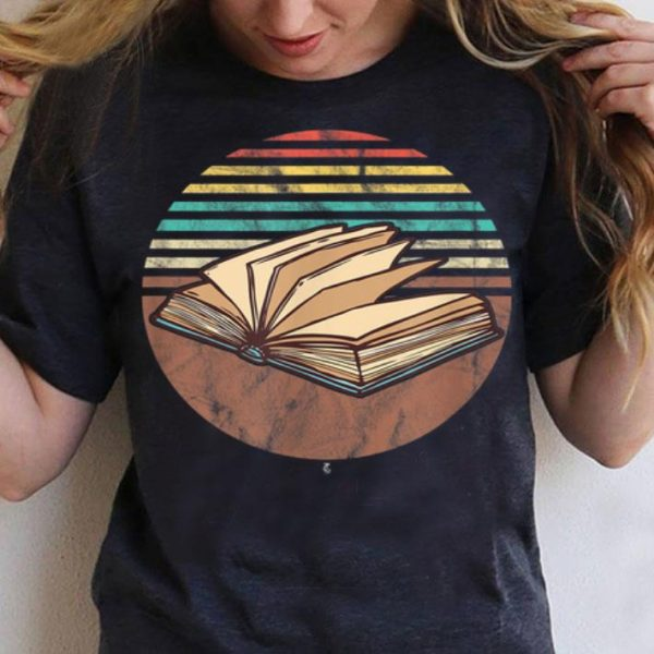Retro Bookish Vintage Avid Book Lovers Readers shirt