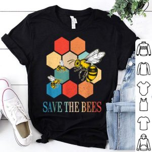 Retro Save The Bees Heart Beeswax For Beekeeper shirt