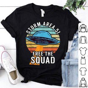 Retro Storm Area 51 Free The Squad shirt