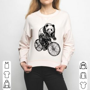 Seembo Panda On A Bicycle Funny Cycling Bike shirt
