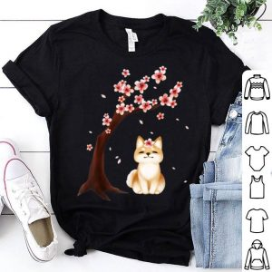 Shiba Inu Dog Japanese Cherry Blossom Sakura Flower-png shirt