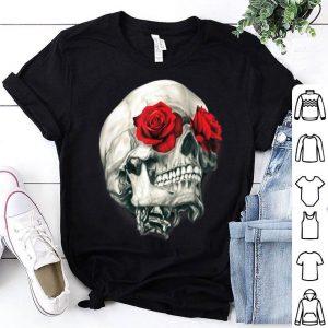 Skull Roses Cool Skulls Flowers Rockers shirt