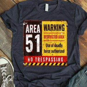 Vintage Area 51 Weathered Sign Distressed Graphic shirt