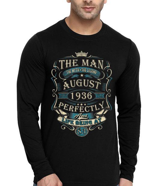 83rd Birthday The Man Myth Legend August 1936 shirt