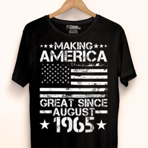 August 1965 54th 54 Years Old Birthday Idea shirt
