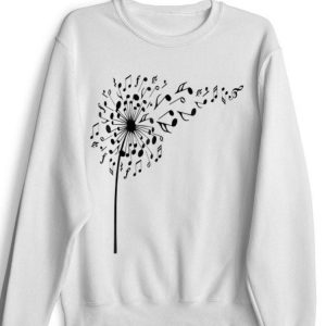 Awesome Dandelion I love my flower note music shirt