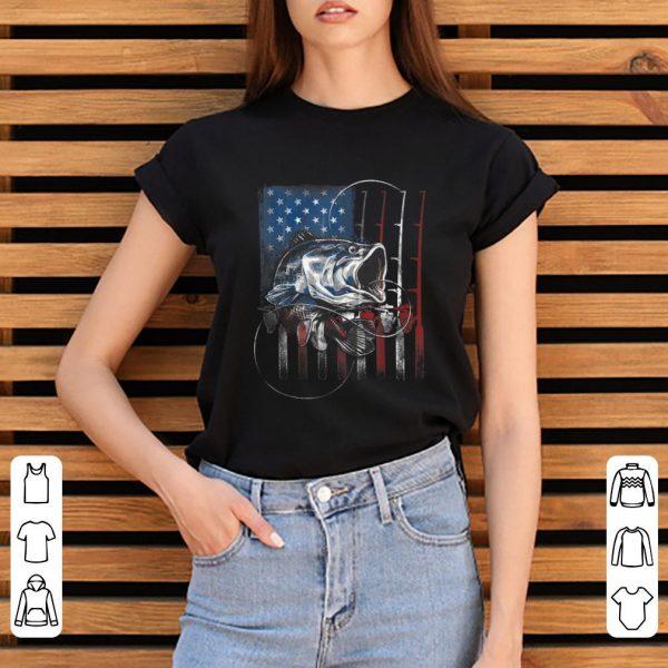 Awesome Fishing American Flag shirt
