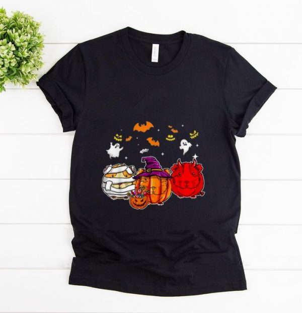 Awesome Guinea Pigs Pumpkins happy halloween shirt