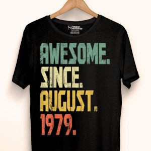 Awesome Since August 1979 40 Years Olds shirt