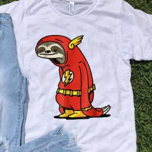 Awesome Sloth Superhero The Flash DC shirt