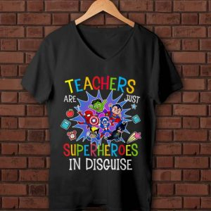 Awesome Teachers Are Just Superheroes In Disguise DC And Marvel shirt