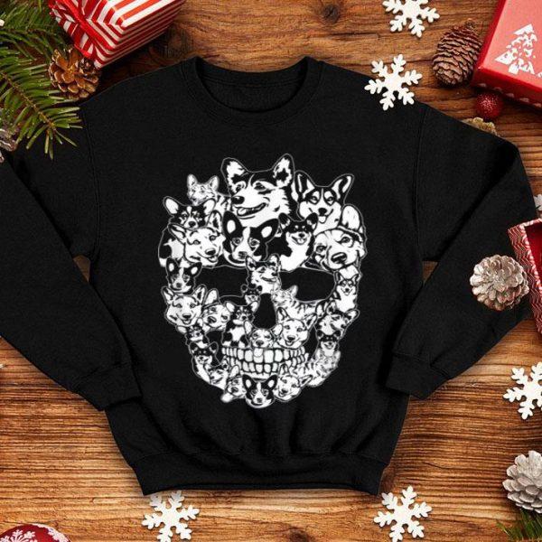 Beautiful Corgi Dog Skull Best Halloween Costume shirt