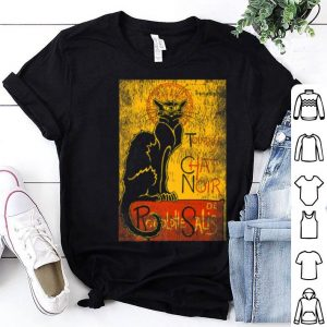 Beautiful Vintage Tournee Du Chat Noir Black Cat For Halloween shirt