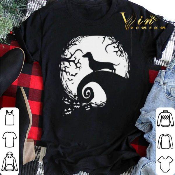 Dachshund dog and moon Halloween shirt